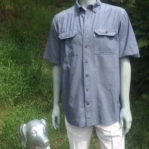 Carhartt Relaxed Fit Chambray Button Down Shirt